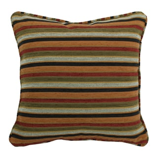 Blazing Needles 18-inch 'Cadillac' Jacquard Chenille Square Throw Pillow with Insert
