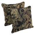 Blazing Needles 25-inch 'Antiquity' Jacquard Chenille Square Floor Pillows with Inserts (Set of 2)