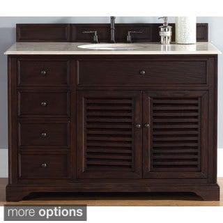 James Martin Savannah 48-inch Single Sable Finish Vanity Cabinet