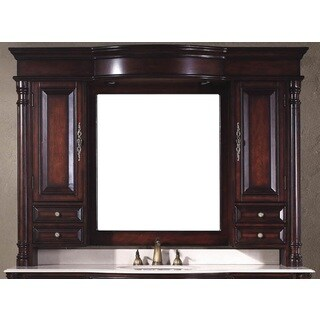 James Martin Dover 62-inch Antique Cherry Mirror Hutch