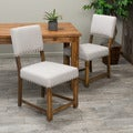 Overstock.com deals on Set of 2 Christopher Knight Home Mayfield Fabric Dining Chair