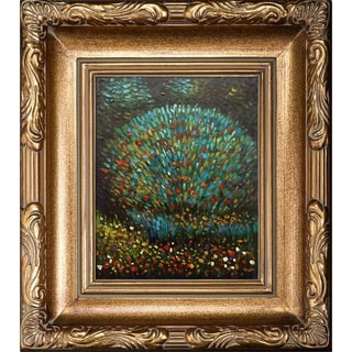 Gustav Klimt 'Apple Tree I' Hand-painted Framed Canvas Art