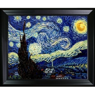 Vincent Van Gogh 'Starry Night' Hand-painted Framed Canvas Art