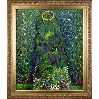 Gustav Klimt 'Sunflower' Hand-painted Framed Canvas Art