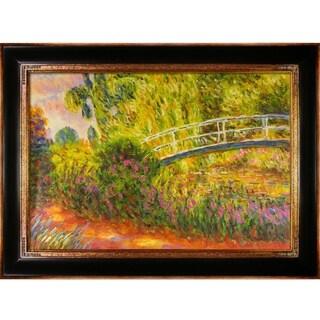 Claude Monet 'The Japanese Bridge' Hand-painted Framed Canvas Art