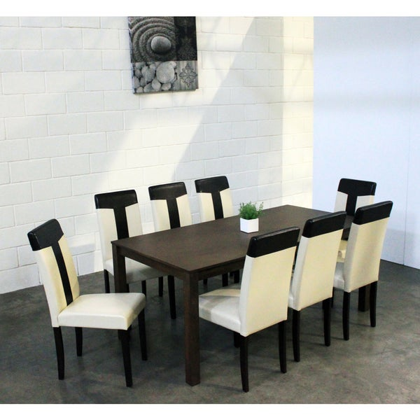Warehouse of Tiffany 'Tiffany' 9-piece Dining Set