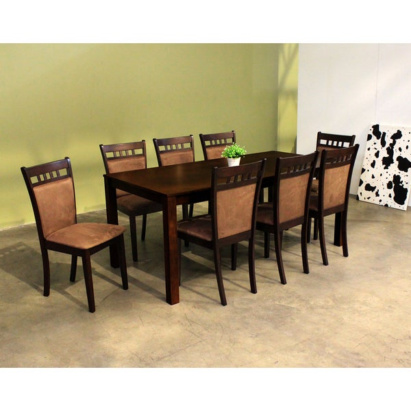 Warehouse of Tiffany Shirlyn Brown 9-piece Dining Set