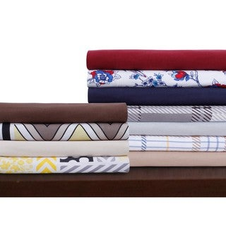 Luxury Solid or Printed Deep Pocket Flannel Sheet Set or Pillowcase Separates