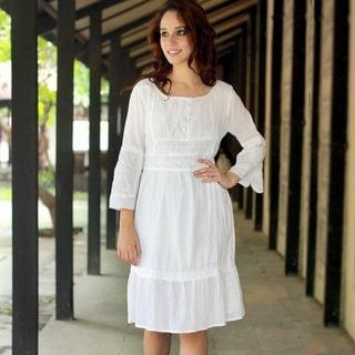 Handcrafted Cotton 'Quiet Joy' Dress (India)