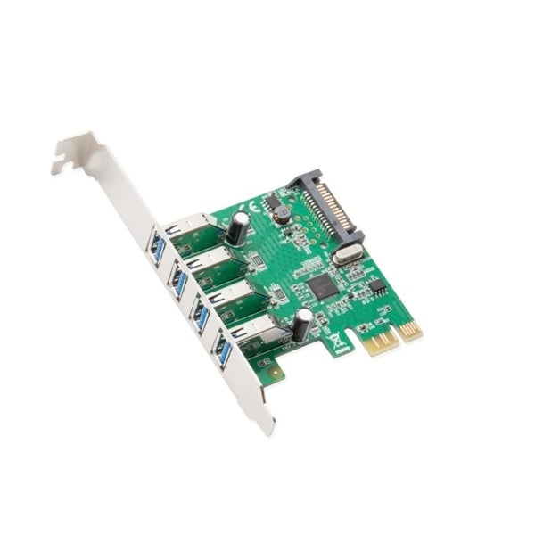 Syba 4-Port USB 3.0 PCI-Express Card Revision 1.0 Renesas Chipset With Full/ Low Profile Brackets