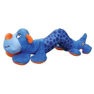 Kong Shakers Blue Catepillar Plush Dog Toy