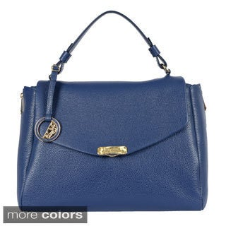 Versace Collection Flap-over Large Satchel