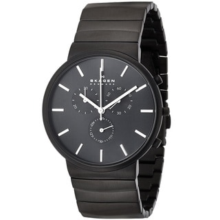 Skagen 'Ancher' Men's Black Ion Plated Stainless Steel SKW6110 Watch