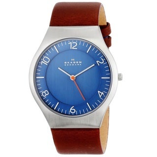 Skagen 'Grenen' Men's Stainless Steel and Leather SKW6112 Watch