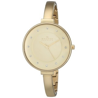 Skagen 'Gitte' Women's Gold Tone Ion Plated Stainless Steel SKW2229 Watch