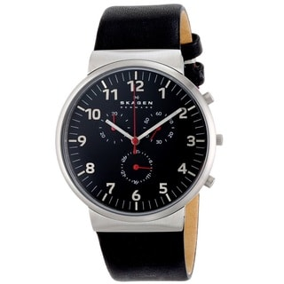 Skagen 'Ancher' Men's Stainless Steel and Leather SKW6100 Watch