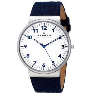 Skagen 'Ancher' Men's Stainless Steel and Felt fabric SKW6098 Watch