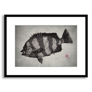 Dwight Hwang's 'Striped Knifejaw' Framed Paper Art