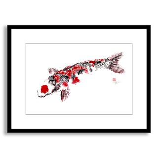 Gallery Direct Dwight Hwang's 'Japanese Koi' Framed Paper Art