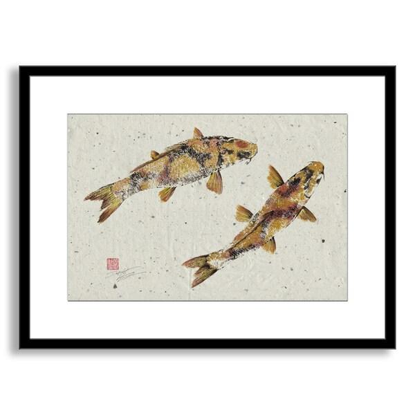 Gallery Direct Dwight Hwang's 'Golden Koi' Framed Paper Art 14645706