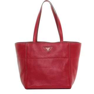 Prada Red Grainy Leather Tote