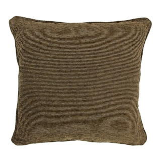 Blazing Needles 25-inch 'Vermont' Jacquard Chenille Square Floor Pillow with Insert