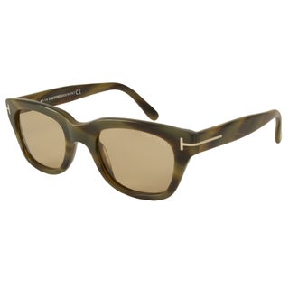 Tom Ford Men's TF0237 Snowdon Rectangular Sunglasses