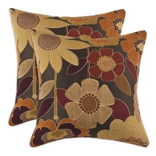 Garnet Sassy 17-inch Throw Pillows (Set of 2)