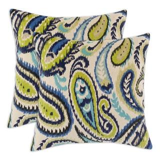 Ikat Navy 17-inch Decorative Throw Pillows (Set of 2)