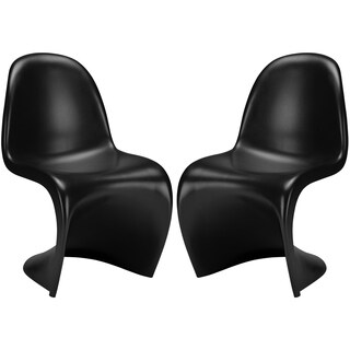 S Dining Chair in Black (Set of 2)