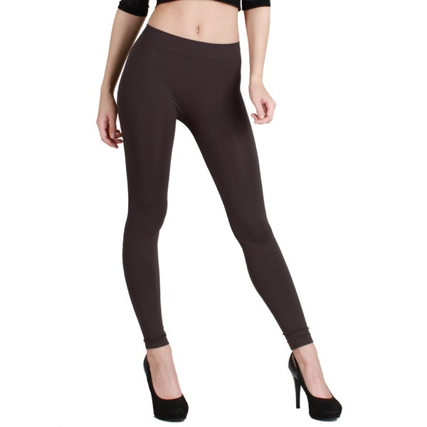 Nikibiki Women's Plain Jersey Ankle Length Leggings (Black)(As Is Item)