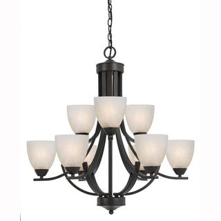 Value Collection 8002 Lumenno International Transitional 9-light Bronze Chandelier