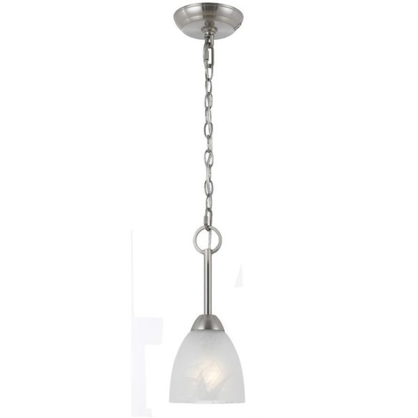 Value Collection 8001 Lumenno International Transitional 1 Light Satin Nickel Mini Pendant Light