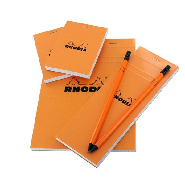 Rhodia Notebook and Notepad Essential Orange Treasure Box