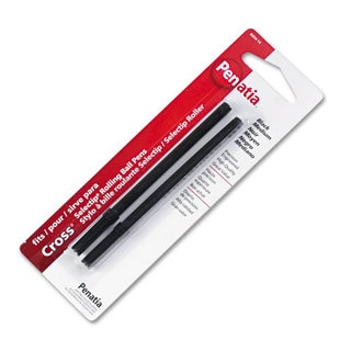 Cross Rollerball Medium Point Black Ink Pen Refills (Pack of 2)
