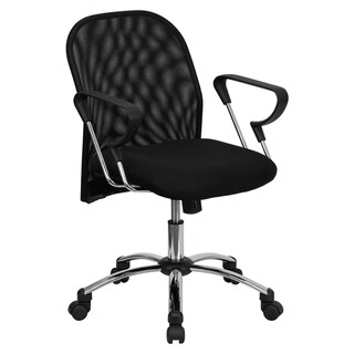 Offex Mid-back Black Mesh Office Chair with Chrome Base