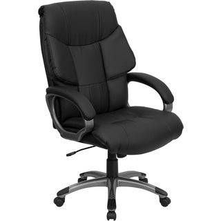 Offex OF-BT-9123-BK-GG High Back Black Leather Executive Office Chair