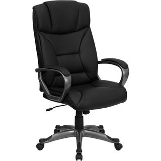 Offex OF-BT-9177-BK-GG High Back Black Leather Executive Office Chair