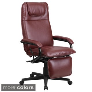 Offex High Back Leather Executive Reclining Office Chair