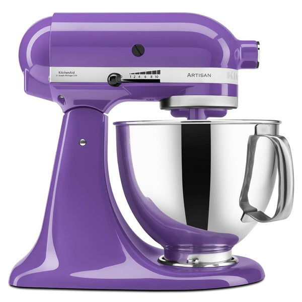 KitchenAid KSM150PSGP Grape 5-quart Artisan Tilt-head Stand Mixer