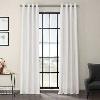 EFF Textured Dupioni Faux Silk 96-inch Blackout Grommet Curtain Panel