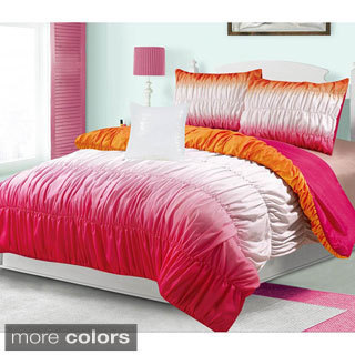 Hadley Ruched 4-Piece Comforter Set