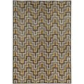 Geometric Chevron Grey/ Gold Rug (5'3 X 7'6)