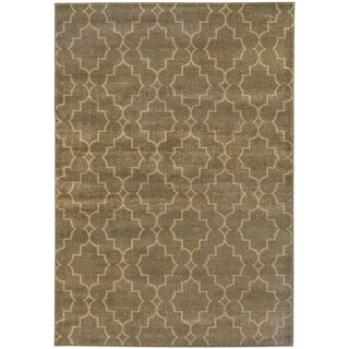 Scalloped Lattice Grey/ Beige Rug (6'7 X 9'6)