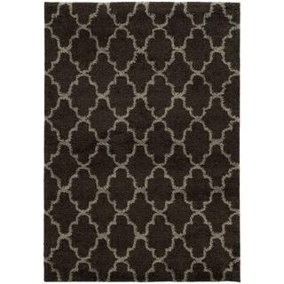 Scalloped Lattice Shag Midnight/ Grey Rug (6'7 X 9'6)