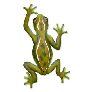 Handcrafted Steel 'Mexican Tree Frog' Wall Art , Handmade in Mexico