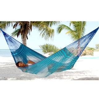 Handcrafted Cotton 'Riviera Sapphire' Hammock (Double) (Mexico)