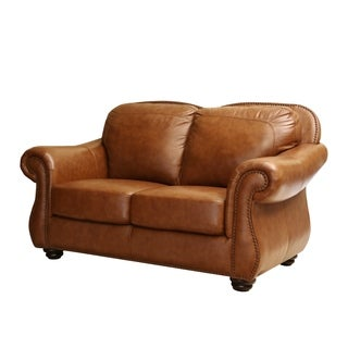 Abbyson Living Arizona Top Grain Leather Loveseat