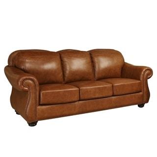 ABBYSON LIVING Arizona Top Grain Leather Sofa