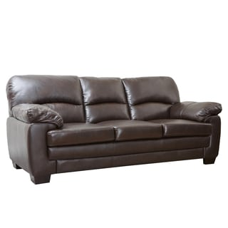 ABBYSON LIVING Charleston Premium Top-grain Leather Sofa